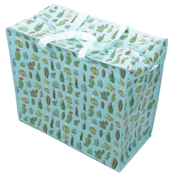Fun Practical Laundry  and  Storage Bag - Cactus Design