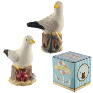 Fun Seagull Design Salt and Pepper Set