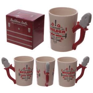 Funky Builders Pliers Shaped Handle Ceramic Mug