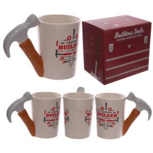Funky Hammer Shaped Handle Ceramic Mug