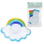 Funky Inflatable Drinks Holder – Cloud with Rainbow