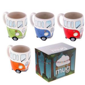 Funky Novelty Camper Van Design Ceramic Mug
