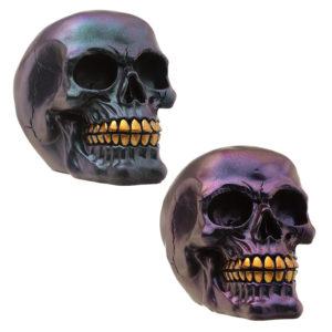 Gothic Metallic Skull Decoration