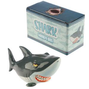 Novelty Ceramic Shark Money Box
