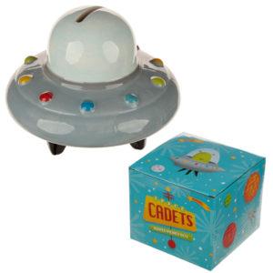 Collectable Ceramic Space Ship Money Box