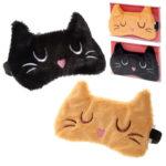 Fun Eye Mask - Plush Feline Fine Cat Design