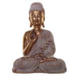 Thai Buddha Figurine - Gold and White Spiritual