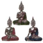 Thai Buddha Figurine – Metallic Lotus