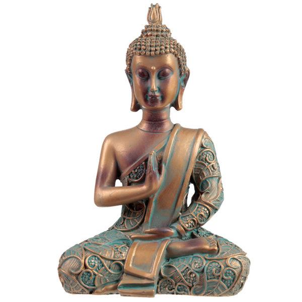 Decorative Copper  and  Verdigris Thai Buddha - Enlightenment