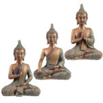 Decorative Copper  and  Verdigris Thai Buddha - Serenity