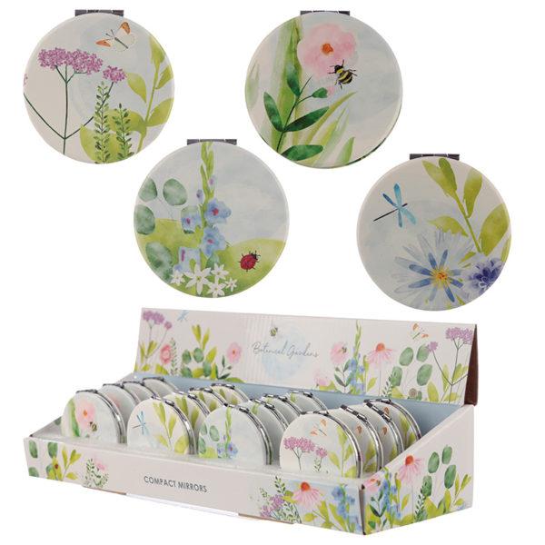 Collectable Botanical Design Compact Mirror