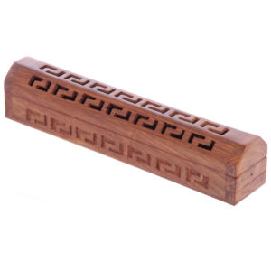 Decorative Sheesham Wood Box with Geometric Fretwork
