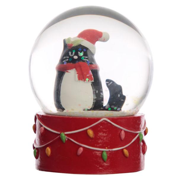 Collectable Chritmas Feline Festive Cat Snow Globe Waterball