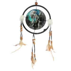 Decorative Wolf Design Dreamcatcher Small