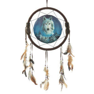 Decorative Wolf Spirit in the Sky 34cm Dreamcatcher