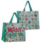 Festive Animals Christmas Design Reusable Shopping Bag