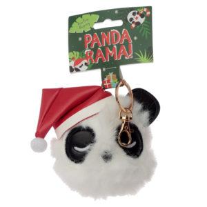 Fun Collectable Pom Pom Keyring - Christmas Pandarama