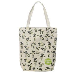 Handy Cotton Zip Up Shopping Bag - Shaun the Sheep