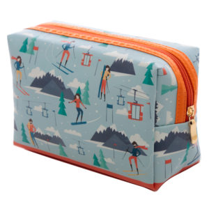 Handy PVC Make Up Toiletry Wash Bag - Peak Season Ski Design