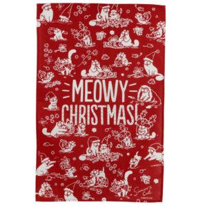 Simon's Cat Meowy Christmas Poly Cotton Tea Towel