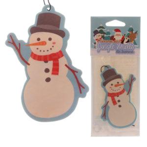 Snowman Shaped Cinnamon Scented Christmas Air Freshener