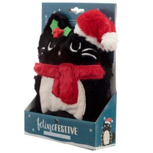 Christmas Feline Festive Cat Microwavable Heat Wheat Pack