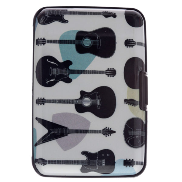 Contactless Protection Card Holder Wallet - Headstock Guitar