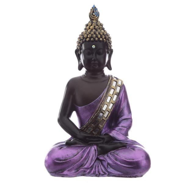 Decorative Purple and Black Buddha - Contemplation