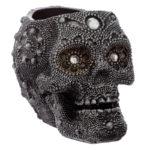 Fantasy Beaded Skull Tea Light Candle Holder