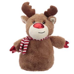Fun Christmas Reindeer Plush Door Stop