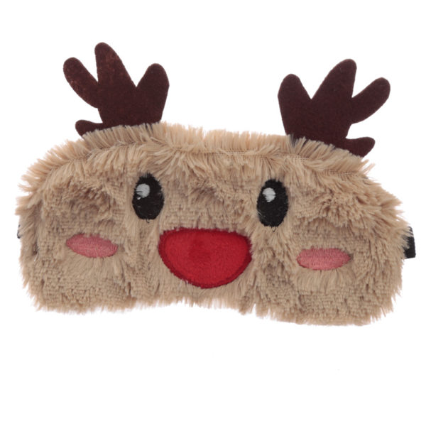 Fun Eye Mask - Plush Christmas Reindeer
