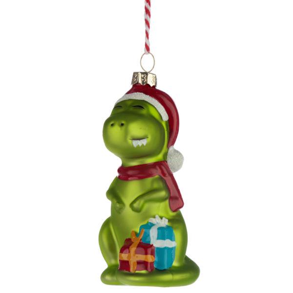 Glass Christmas Bauble - Dinosaur