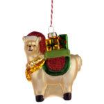 Glass Christmas Bauble – Llamapalooza with Gifts