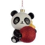 Glass Christmas Bauble – Pandarama Panda with Bauble