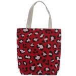 Handy Cotton Zip Up Shopping Bag - Animal Print Wild Life