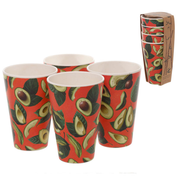 Bamboo Composite Avocado Set of 4 Cups