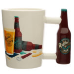 Ceramic Beer Bottle Shaped Handle Mug