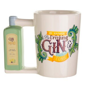 Ceramic Gin Bottle Shaped Handle Mug