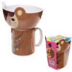 Children's Porcelain Mug and Bowl Set - Cute Llama
