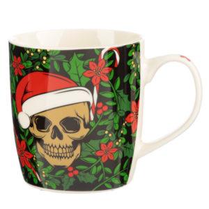 Christmas Porcelain Mug - Santa Bones Skull