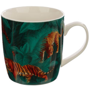 Collectable Porcelain Mug - Big Cat Spots and Stripes