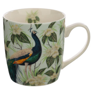 Collectable Porcelain Mug - Peacock