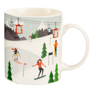 Collectable Porcelain Mug - Peak Season Ski Design