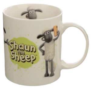 Collectable Porcelain Mug - Shaun the Sheep White