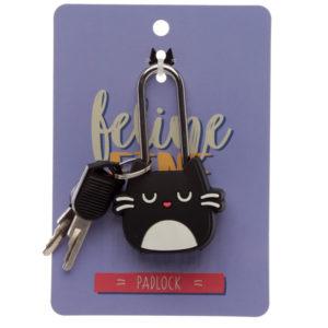 Cute Novelty Cat Feline Fine PVC Padlock