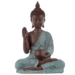 Decorative Turquoise  and  Brown Buddha Figurine - Begging Bowl