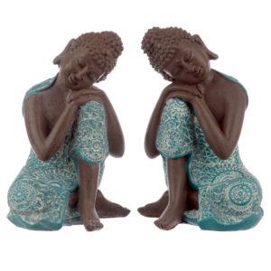 Decorative Turquoise and Brown Buddha Figurine - Dream