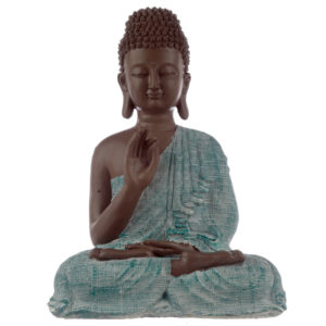 Decorative Turquoise and Brown Buddha Figurine - Enlightenment