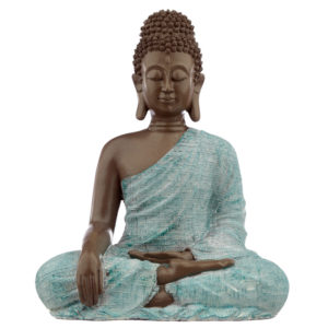 Decorative Turquoise and Brown Buddha Figurine - Love