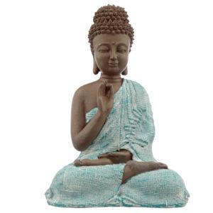 Decorative Turquoise and Brown Buddha Figurine - Meditation